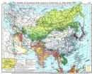 ASIA: Growth of European & Japanese Dominions in from 1801; Beijing, 1956 map
